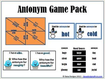 Antonym Game Pack
