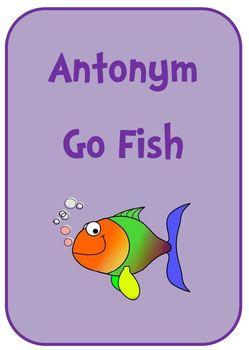 Antonym Go Fish Card Game