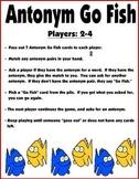 Antonym Go Fish Card Game / Antonym Concentration (Learnin