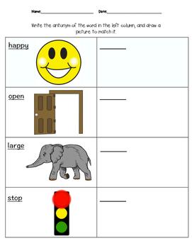 Antonym Homework