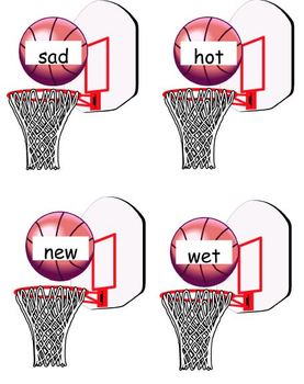 Antonym Hoops!  A fun antonym basketball game for centers.