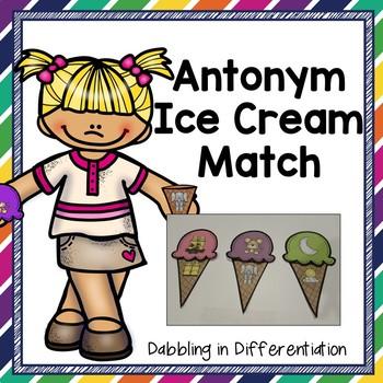Antonym Ice Cream Match