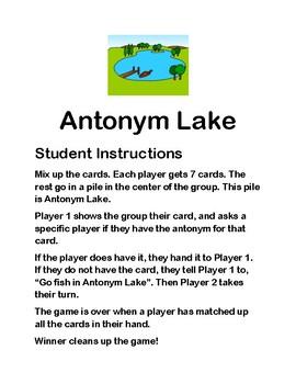 Antonym Lake
