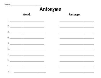 Antonym Log