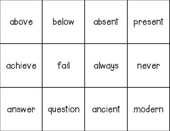 Antonym Match {A Memory Game}