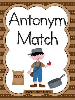 Antonym Match Apple Theme