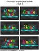Organization Labels Chalkboard Brights