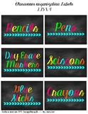 Organization Labels Chalkboard Brights
