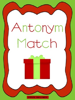 Antonym Match Christmas Theme