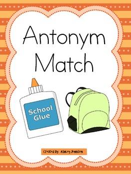 Antonym Match School Theme