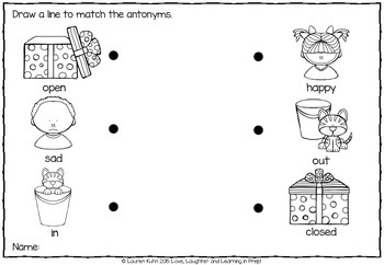 Antonym Match Up! A hands on matching game - with bonus worksheets!