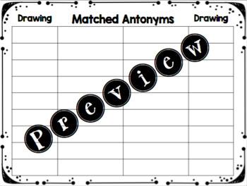 Antonym Match and Draw
