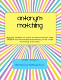 Antonym Matching Game and Recording Sheets