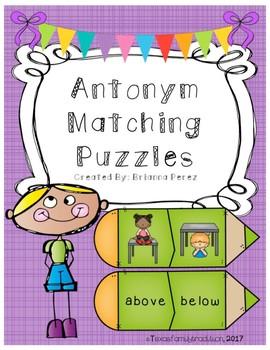 Antonym Matching Puzzles