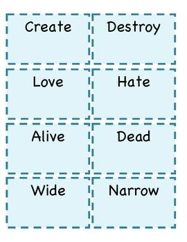 Antonym Memory Game