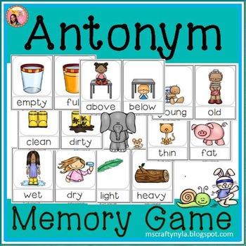 Antonyms Memory Game or Flip Book