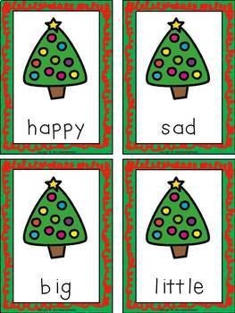 Antonym Memory Game and Poster Christmas Edition