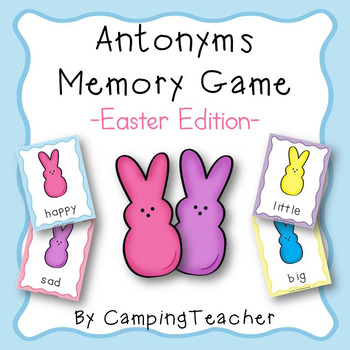 Antonym Memory Game and Poster Easter Edition