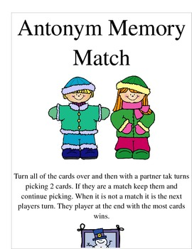 Antonym Memory Match