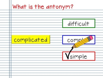 Antonym Notebook