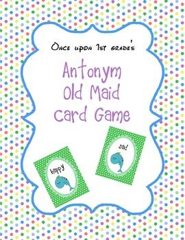 Antonym Old Maid Card Game
