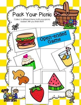 Antonym Picnic Opposites Games and No Prep Vocabulary Activities