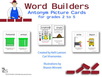 Antonym Pictures Cards for Grades 2-5