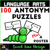 Antonym Puzzle Piece Matching, a Poster and Printables {Sw