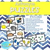 Antonym Puzzles, Antonym Centers, Antonym Cards, Antonym Poster