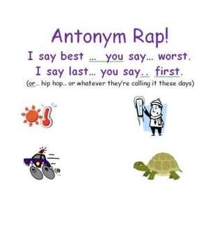 Antonym Rap - Rhyming Opposites for Primary Grades