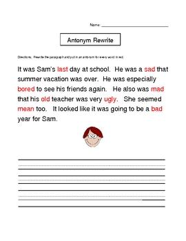 Antonym Rewrite