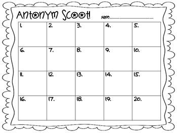 Antonym Scoot!