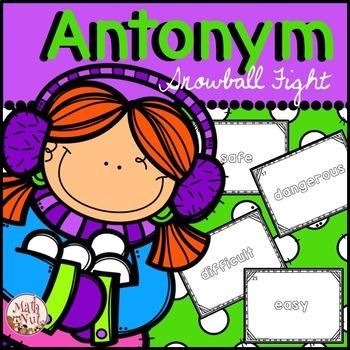 Antonym Snowball Fight: Synonym and Antonym Game
