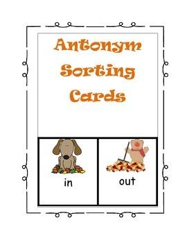 Antonym Sorting Cards