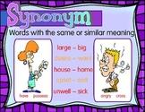 Antonym & Synonym Anchor Charts