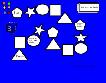 Antonym-Synonym Gameboard