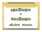 Antonym & Synonym Sorting Center or Memory Game
