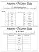 Antonym Synonym Vocabulary Building Task Cards