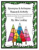 Antonym & Synonyms - Christmas Theme