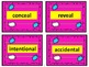 Antonym Task Cards!  They are great for reading and writing. Pink Set