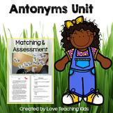 Antonym Unit- matching activity & assessment