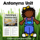 Antonym Unit- matching activity & assessment