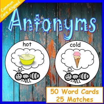 Antonyms Worksheet | Antonym Task Cards | Antonym Activities | Antonym Cards