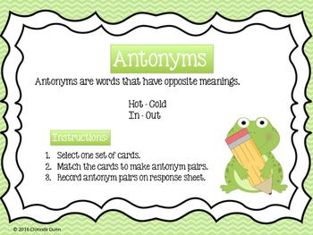 Antonym Word Sort