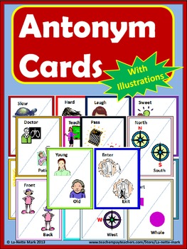 Antonym Cards with Illustrations