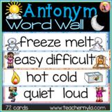 Antonyms Word Wall - Illustrated