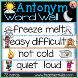 Antonyms Word Wall - Illustrated