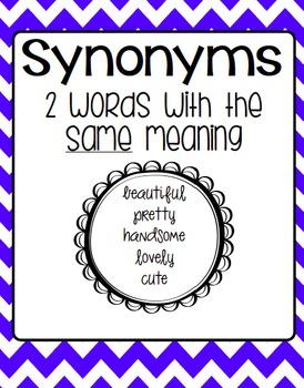 Antonym and Synonym