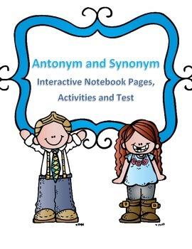 Antonym and Synonym Activities