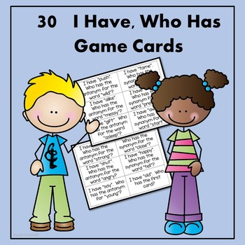 Antonym and Synonym Activities and Games